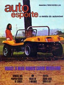 Capa da Auto Esporte de dezembro de 1969