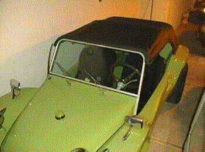 Capota conversível em um buggy