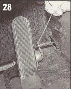 cabo da embreagem
