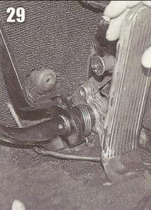 começando a acertar o pedal do freio