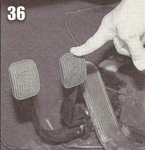 Folga do pedal do freio