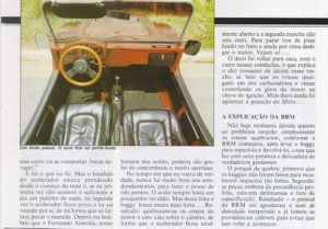 Teste do BRM na revista Motor 3
