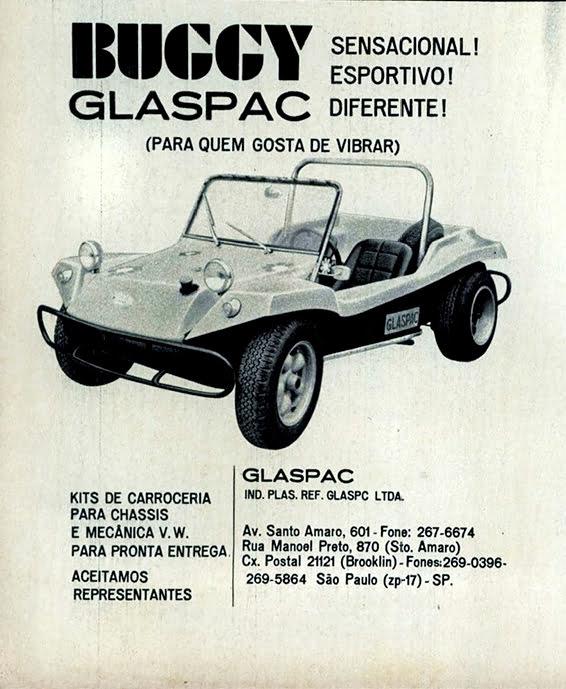 Primeiras publicidades do bugue da Glaspac