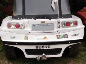Parachoque traseiro do Buggy Bugre