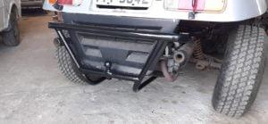 Parachoque traseiro em buggy