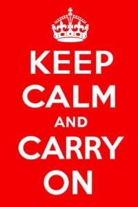 Keep Calm - Cartaz original