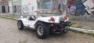 Velho'73 - Um buggy no Porto de Pelotas