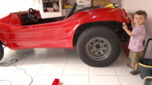 Reforma do Buggy Abais do Ricardo - pintura