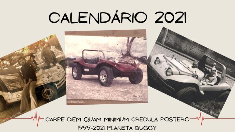 Calendário 2021 do Planeta Buggy - abertura