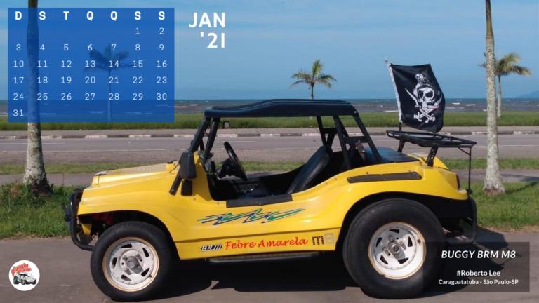 Calendário 2021 - Janeiro