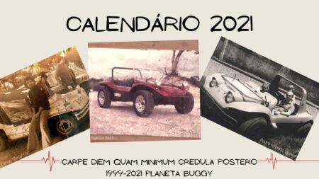 Calendário 2021 do Planeta Buggy